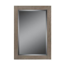 Tre's mirror - would be nice if there was a cabinet behind it. $89 Style Selections�32-in H x 22-in W Strabury Specialty Driftwood Rectangular Bathroom Mirror