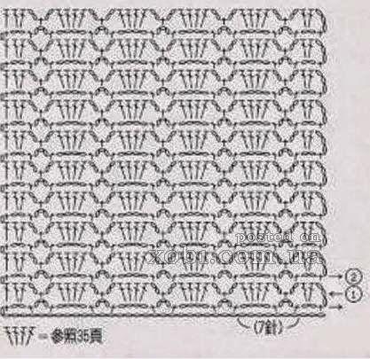 Punto Crochet Calado #1   Crochet y Dos agujas