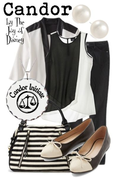 Affordable outfit inspired by the Candor faction of the movie Divergent! -- Non-Disney