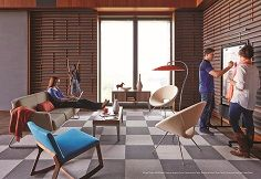 Blurring the lines between work and home #cozy #lounge http://www.bistaples.ca/en/how-we-work/17-go2-book