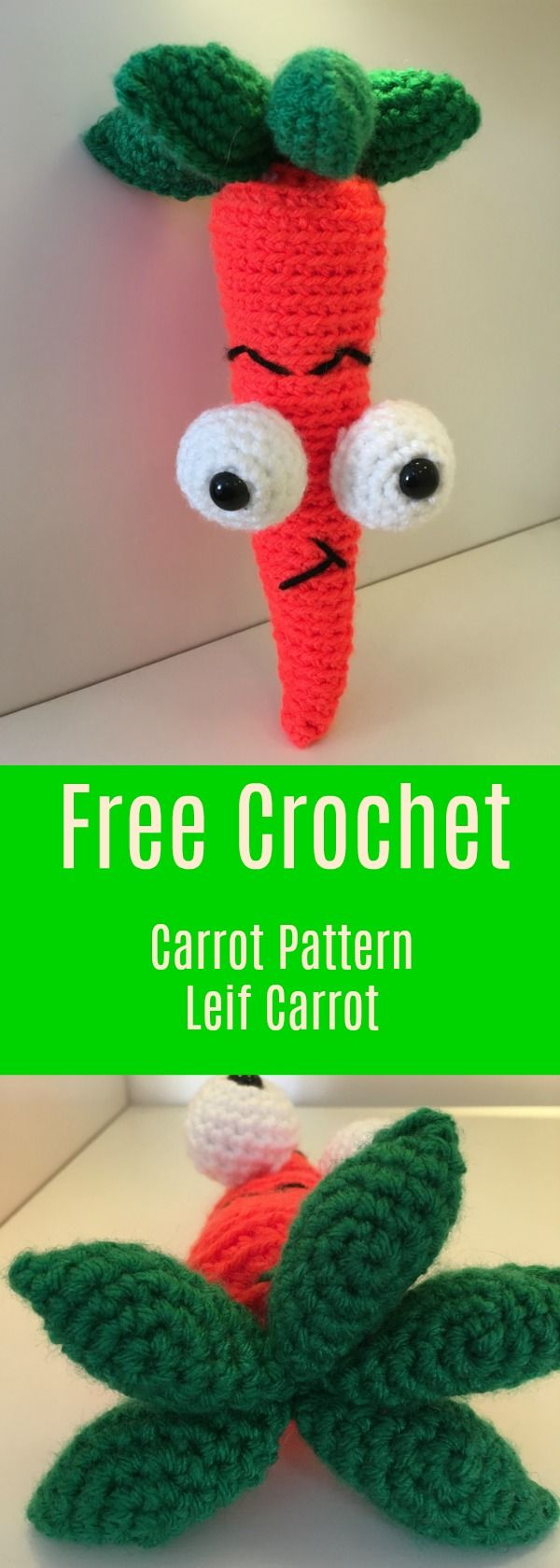 Crochet your own Carrot with an attitude.