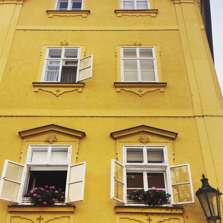 #Prague #Charles Square #Historic #Czech #Yellow