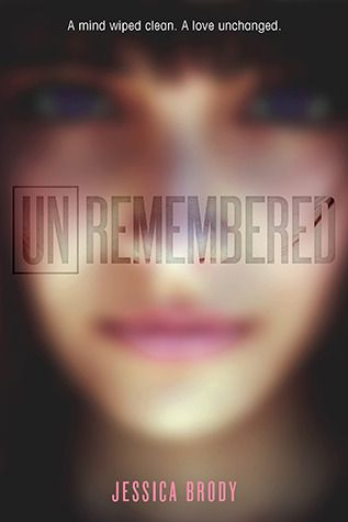 "Unremembered by Jessica Brody. ""This is the kind of book you finish in one sitting. The opening pages are so completely riveting, I knew from the start I was hooked! Intense pacing, cool science, and a killer twist at the end make this sci-fi thriller an addictive read."" - @jesskhoury"