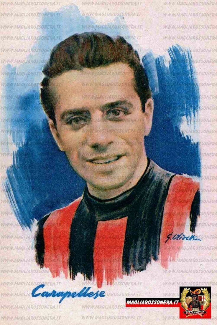 Ricardo Carapellese of AC Milan & Italy in 1950.