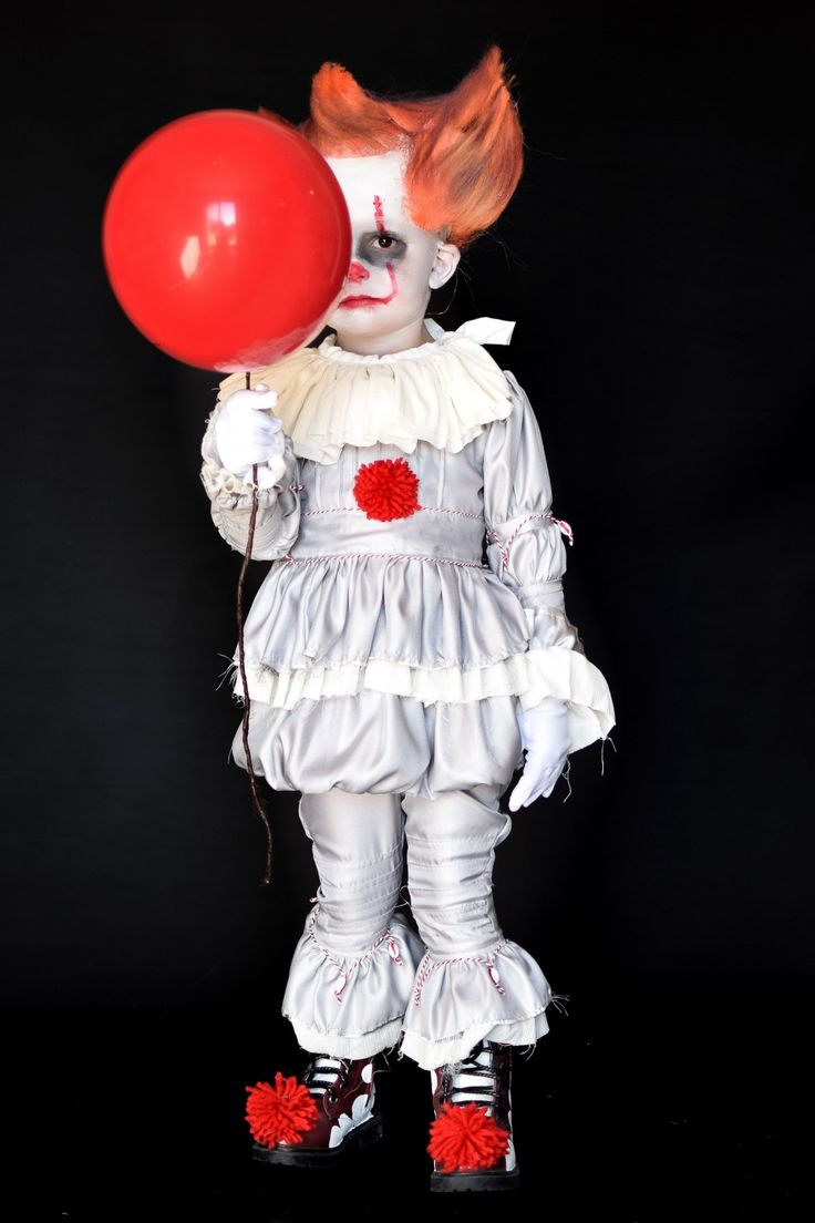 3 year old turns into pennywise clown from the movie IT. Toddler boy Halloween costume.
