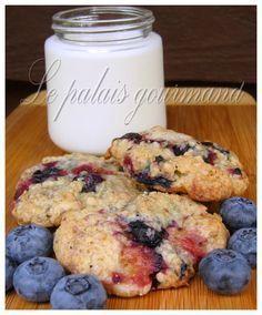 Le palais gourmand: Biscuits bleuets et avoine