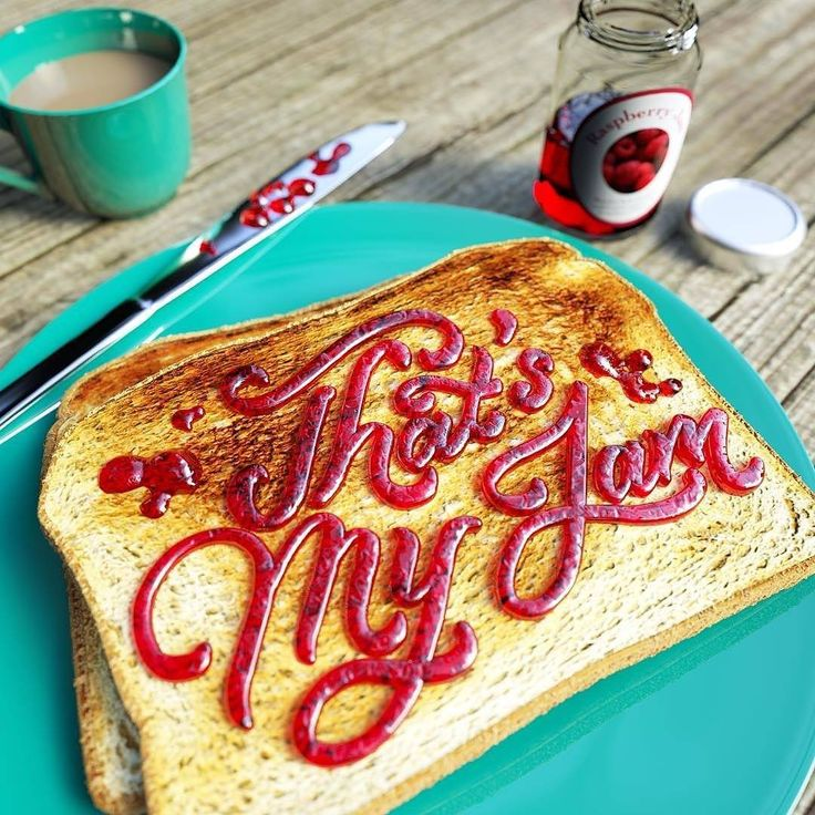 """""""Breakfast has never looked so good. Type by @letteringcamp 