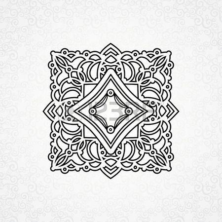 Vektor dísze keleti stílusban. Díszes elem a tervezés marokkói stílusban. Díszes csipke minta esküvői meghívók és üdvözlőlapok. Hagyományos fekete dekor szürke háttér. photo