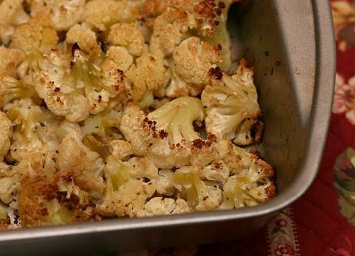Roasted Panko and Pecrino-Crusted Cauliflower