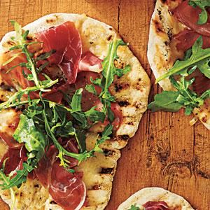 Grilled Pizza with Prosciutto, Arugula, and Lemon Recipe | MyRecipes.com