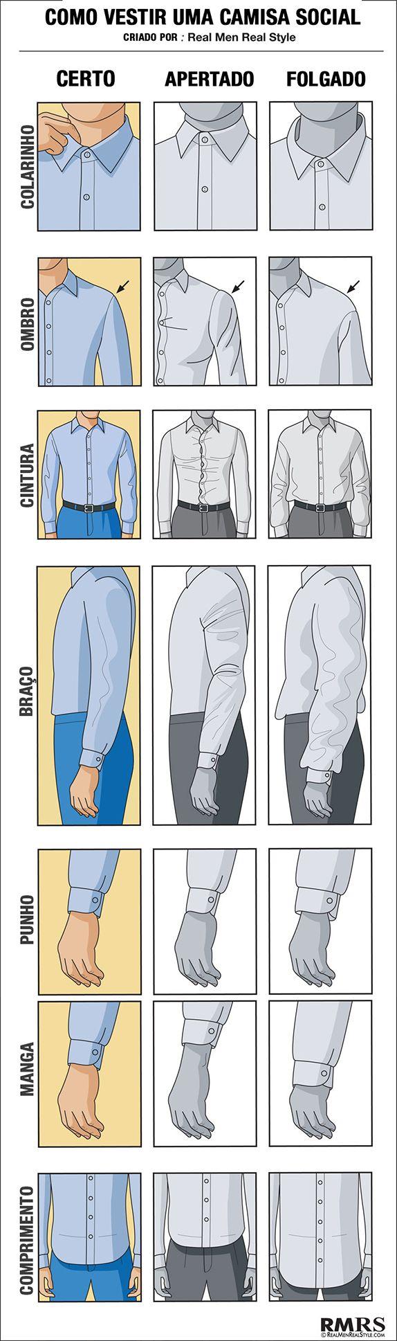como vestir uma camisa