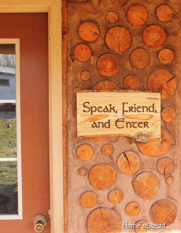 Speak friend and enter lord of the rings quote funny for House friend door