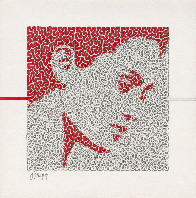 15x15cm | Rapid Pen & Ink on Cardboard | 2013 | By Mostafa Akbari © ▌www.mostafaakbari.com