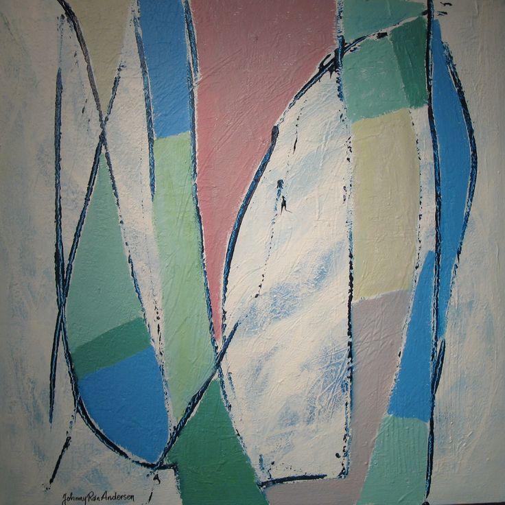 Maleri Norway Spring 80x80