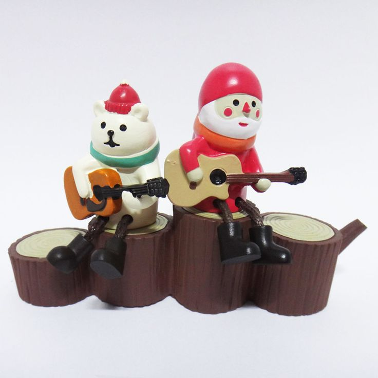 Concombre DECOLE Japan Cute Lovely Kawaii Figure Guitar Santa Bear Stump Stairs #ConcombrebyDECOLE