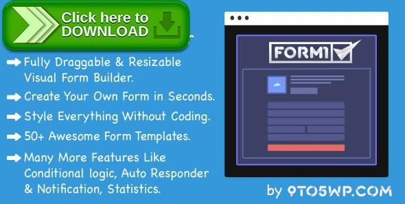 [ThemeForest]Free nulled download Formi - The Most Premium & Powerful WordPress Form Builder Plugin from http://zippyfile.download/f.php?id=44090 Tags: ecommerce, ajax forms, contact form, drag and drop form builder, feedback forms, form, form builder, form creator, form design, form themes, forms plugin, quick forms, responsive form, wordpress form builder, wordpress forms, wp form builder