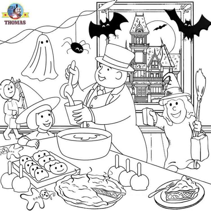 Thomas the train halloween worksheets for kids | Train Thomas the tank engine Friends free online games and toys for ...