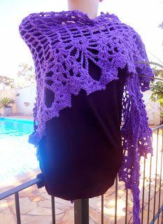 Modernizando o crochê: Xale lilás