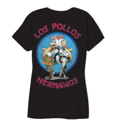 Los Pollos Hermanos Logo Breaking Bad Juniors Black T-shirt (Juniors Medium) @ niftywarehouse.com #NiftyWarehouse #BreakingBad #AMC #Show #TV #Shows #Gifts #Merchandise #WalterWhite