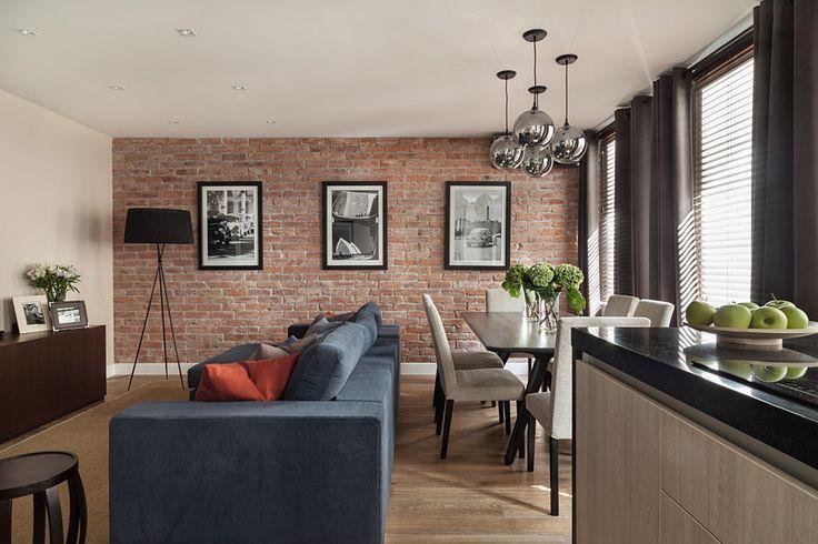 Фотография: Гостиная в стиле Лофт, Современный, Эклектика, Классический, Квартира, Дома и квартиры, IKEA, Проект недели, Дина Салахова – фото на InMyRoom.ru