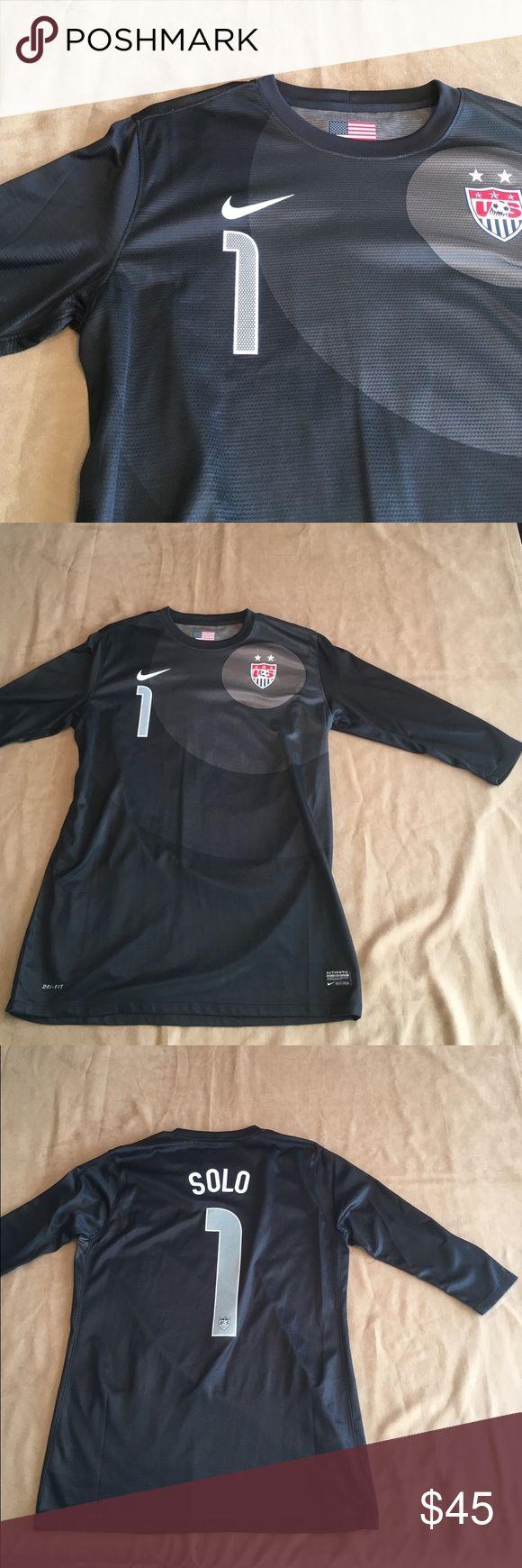 Nike dryfit Hope Solo soccer jersey Nike dryfit Hope Solo soccer jersey. New without tags. Nonsmoking home. Nike Tops
