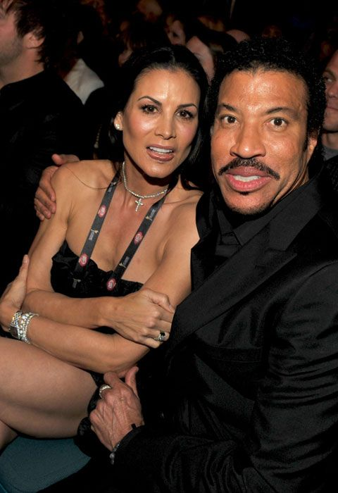 Lionel Richie with ex-wife Diana...