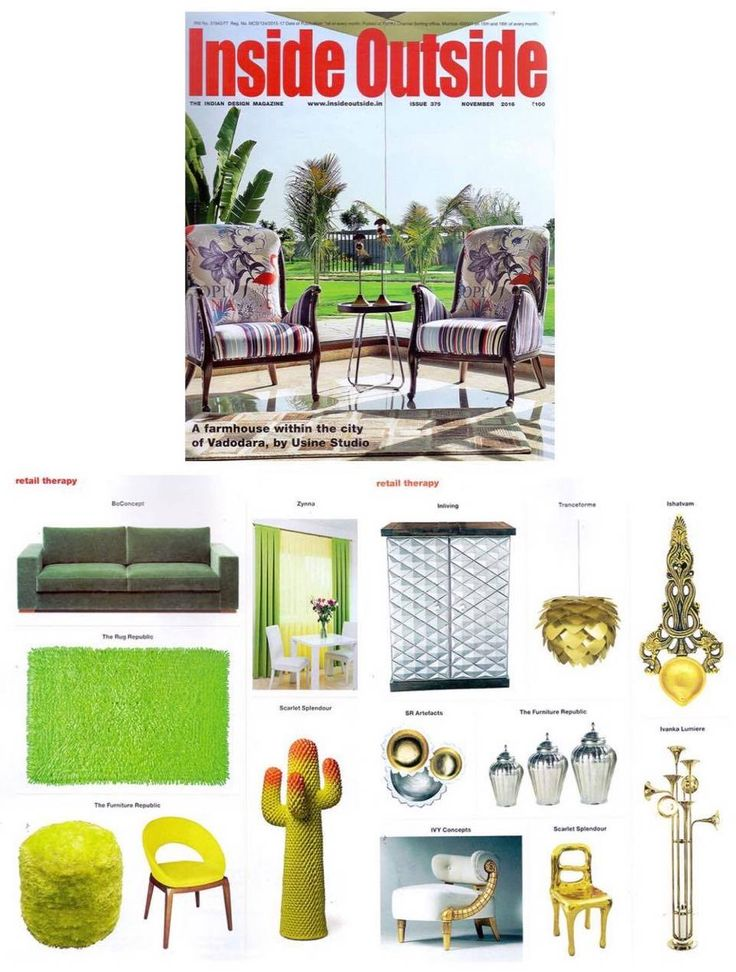 @gufram metacactus and #rapture chair in Inside Outside magazine. Thank you for the love! #brass #gufram #cactus #furniture #press