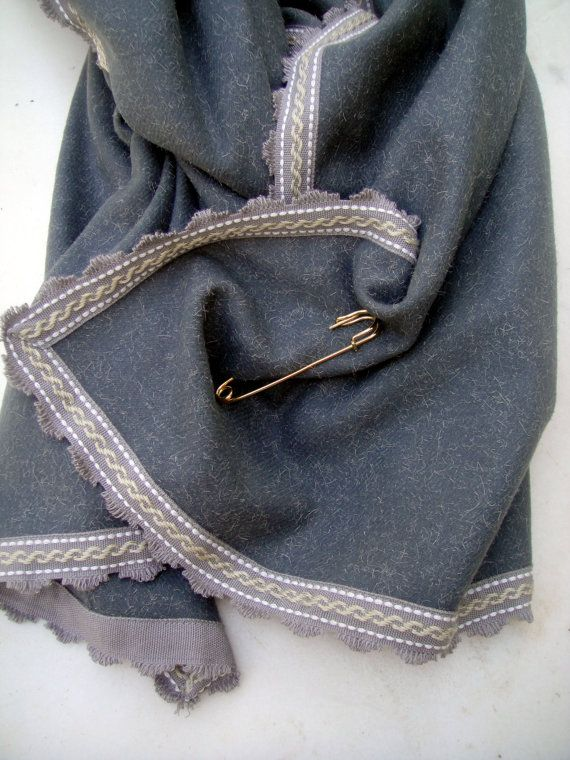 Grey pashmina for women 100% wool women by athanasiaCREATIONS