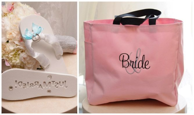 Bridesmaid Gifts Pink - Modern Jewish Wedding at the Ritz-Carlton Beach Resort in Naples, FL | Modern Jewish Wedding Blog