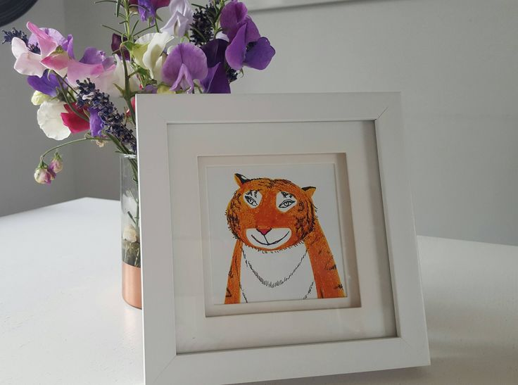 Framed 'Tiger Who Came to Tea' by Judith Kerr by LovedPrints on Etsy https://www.etsy.com/uk/listing/529247340/framed-tiger-who-came-to-tea-by-judith