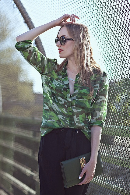 Sheer Camouflage Blouse 33