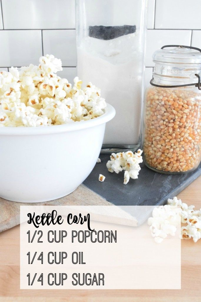 Easy, tasty kettle corn recipe. Click on photo for recipe! I use coconut oil.
