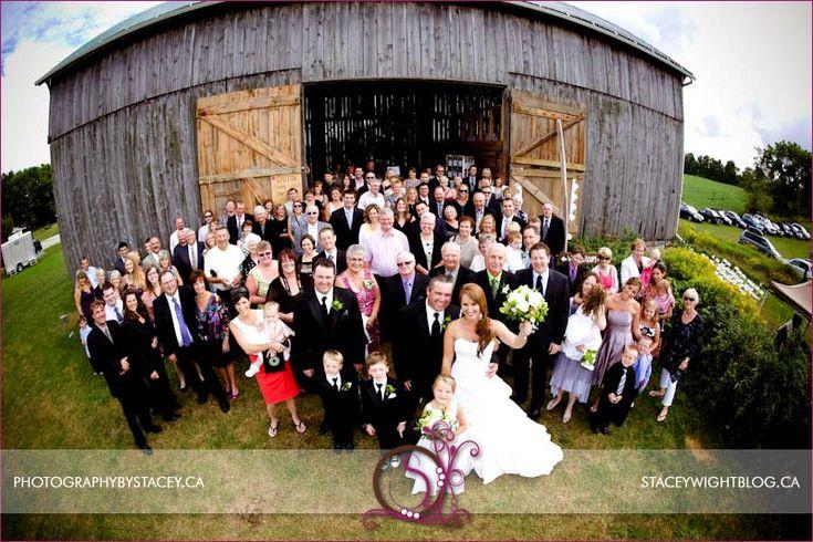 Entire Guest List at a Barn Wedding.