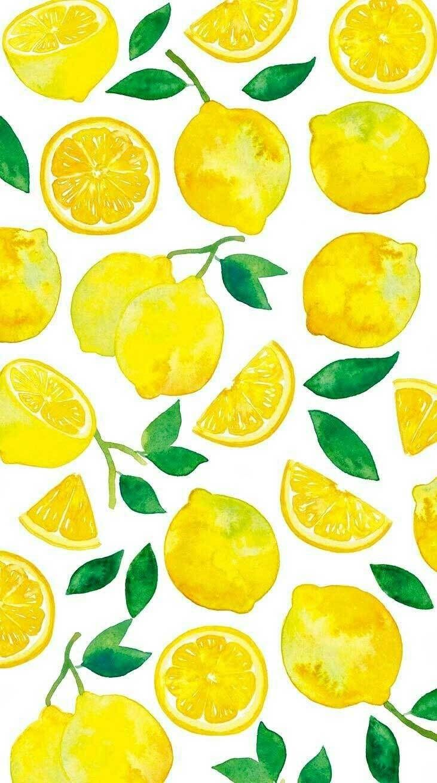 Lemons Water Color Illustration Wallpaper Watercolor Wallpaper Summer Wallpaper Cute Love Wallpapers