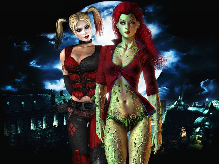 Batman - Arkham Harley Quinn and Poison Ivy Wallpaper