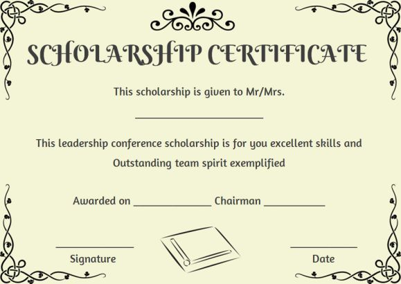 create easily editable scholarship certificate templates with the help of our tips and professionally designed formats