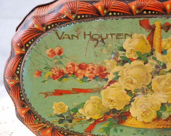 Van Houten chocolates tin