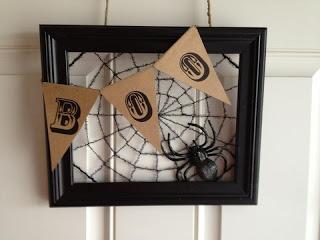 Stuff I've Made...: Halloween Frame Wreath