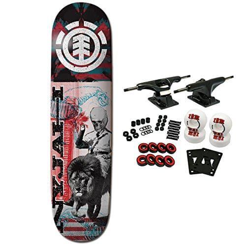 skateboard bearing brands. element skateboard complete nyjah overprint 8.0\u2033: core trucks 52mm wheels amphetamine abec 5 bearings bearing brands r