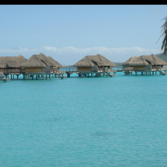 My favorite place, Bora Bora. So beautiful and relaxing. Great honeymoon vacation!