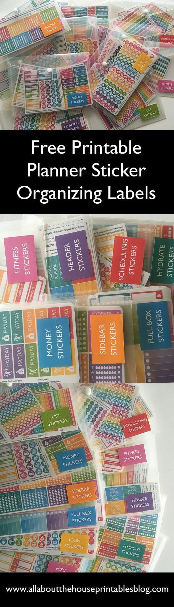 How to organize planner stickers using folders binder free sticker label rainbow planner supplies addict book