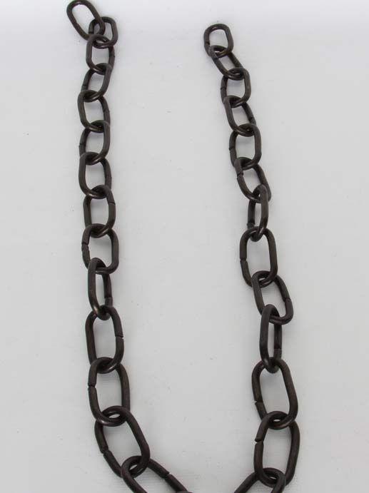 CH-07 Solid Brass Handmade Chain in Oil Bronzed Black