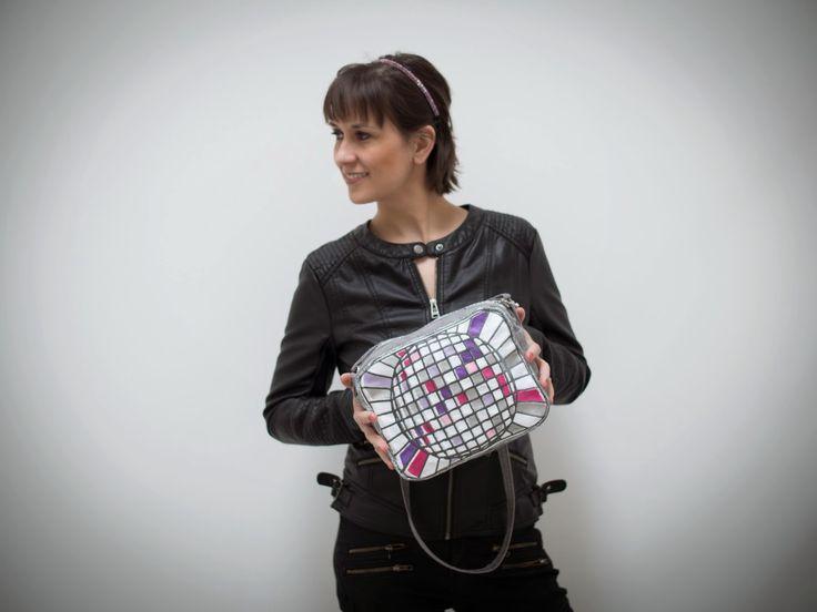 Disco bag, stitched bag Diskotasche, gestickte Tasche