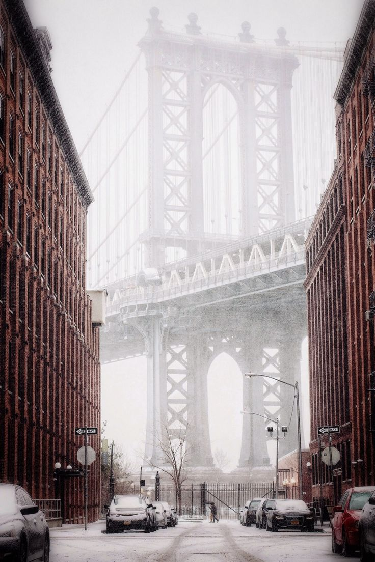 new york city in snow