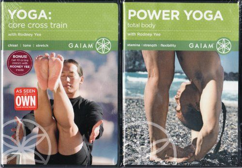 Gaiam LIMITED EDITION 2 Pack DVD Set Rodney Yee - Yoga Core Cross Train / Power Yoga Total Body ** undefined