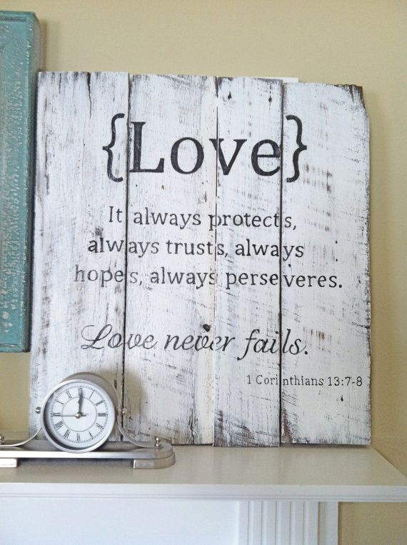 Hand painted Barn Wood Sign with Love Scripture: 1 Corinthians 13Decor, Ideas, Quotes, Diy Art, 1 Corinthians, Barns Boards, Barns Wood Signs, Corinthians 13, Art Projects