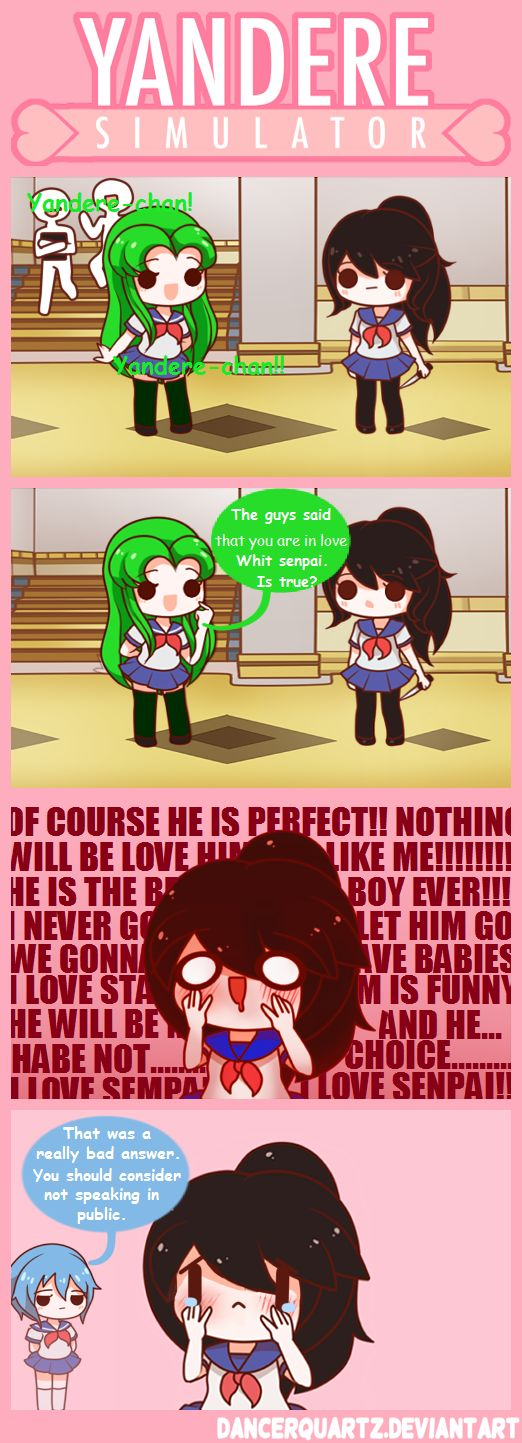 Yandere Comic - Bad Answer by DancerQuartz on DeviantArt