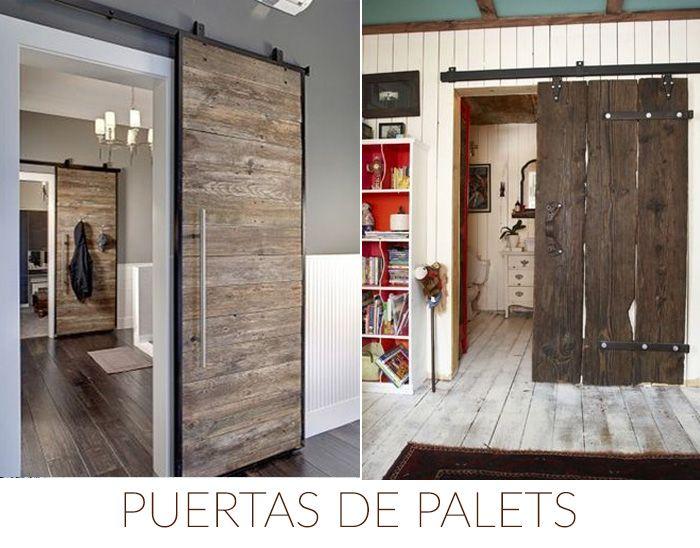 Ideas diy puertas palets decoraci n pinterest - Hacer puerta corredera barata ...