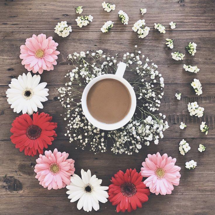 Flower Power   #flowers #coffee #flatlay