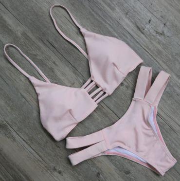 Strappy Rose Pink Bikini